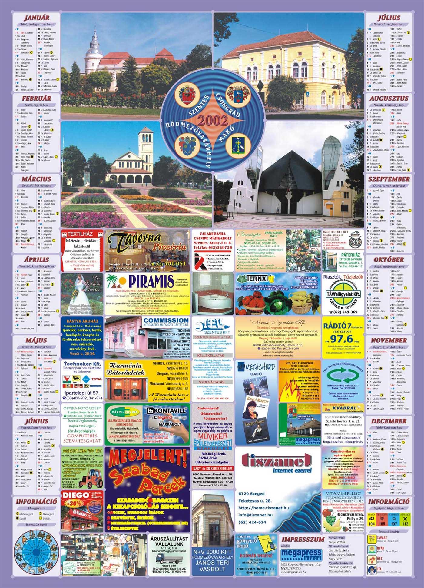 16-SzentesCsongradHodmezovasarhelyMako2002Falinaptar-2001